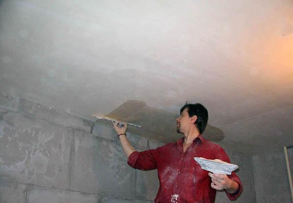Enduit sur le plafonds
