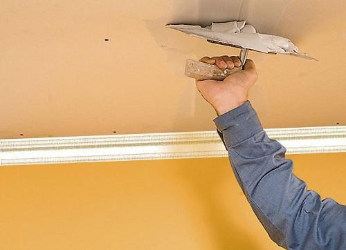 Rebouchage des fissures au plafond astuces et bricolage for Fissure au plafond