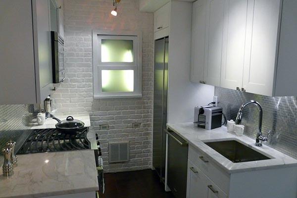 la lumière dans une petite cuisine