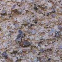 Enduit à sables de grosseur variée.